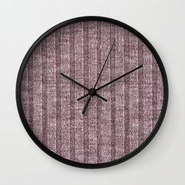 Dusty Pink Jersey Knit Pattern Wall Clock