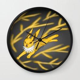 lightning storm Wall Clock