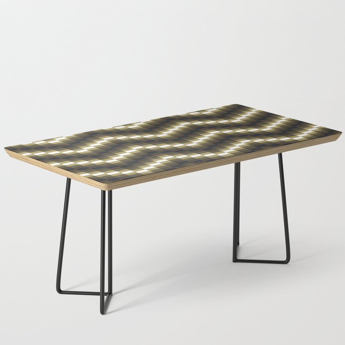 Block Wave Illustration Artwork Coffee Table