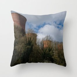 Cooling Towers Of Ironbridge Throw Pillow