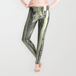 Decorative American Hundred Dollars Art Abstract By Sharles. Leggings
