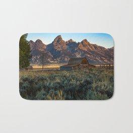 Wyoming - Moulton Barn and Grand Tetons Bath Mat