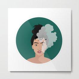 Fierce Woman - Smoking Joint Metal Print