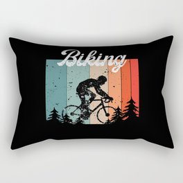 Cyclist Bike Retro Gift Present Idea Rectangular Pillow