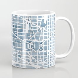 Washington DC Blueprint watercolor map Coffee Mug