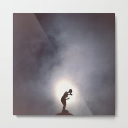 Silhouetted Statue Metal Print