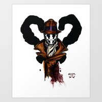 rorschach Art Prints featuring Rorschach by The Aortic Inkwell