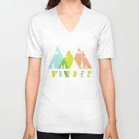 wander V-neck T-shirts featuring Wander  by Jenny Tiffany