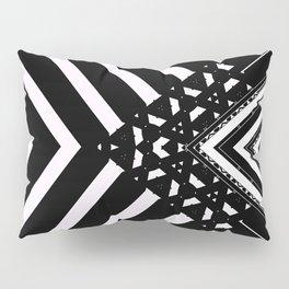 Modern Minimal Black White V Patten Pillow Sham