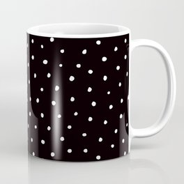 Minimal- Small white polka dots on black - Mix & Match with Simplicty of life Coffee Mug