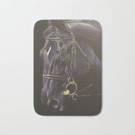 Black Horse Portrait Bath Mat