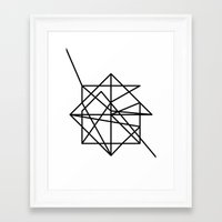 the wire Framed Art Prints featuring Wire by FLATOWL