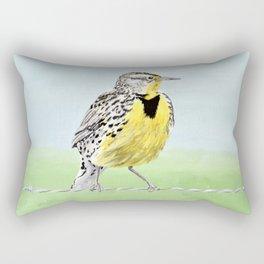 Wyoming Meadowlark Bird Art Rectangular Pillow
