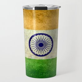 Flag of India - Vintage retro style Travel Mug