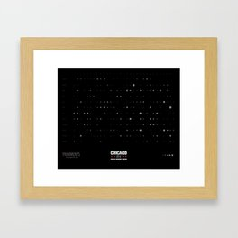 Chicago Firearm Homicide Calendar Framed Art Print