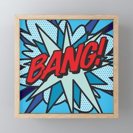 Comic Book Pop Art BANG! Framed Mini Art Print