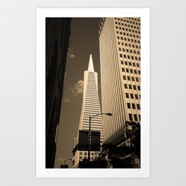San Francisco - Transamerica Pyramid Building 2007 Art Print