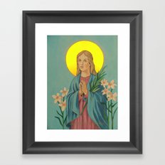 saint maria Framed Art Print