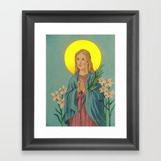 saint maria Framed Art Print