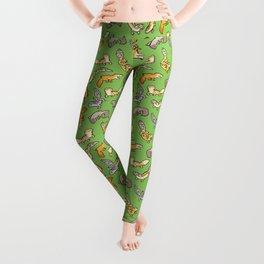 geckos in green Leggings