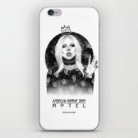 ahs iPhone & iPod Skins featuring AHS Hotel by Ash Tarek