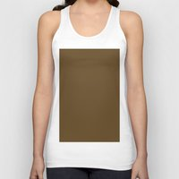 donkey Tank Tops featuring Donkey Brown by List of colors
