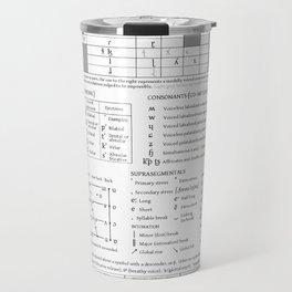 International Phonetic Alphabet Travel Mug