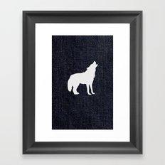 Jeans dog Framed Art Print