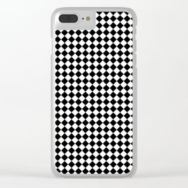 Chessboard 36x36 45 degree rotate Clear iPhone Case