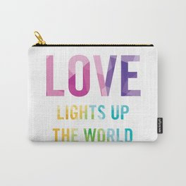 Love Lights Up The World Quote Carry-All Pouch