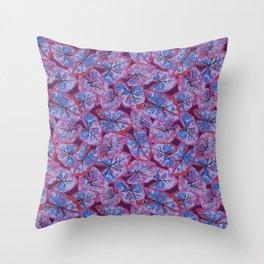 Caladium purple Throw Pillow