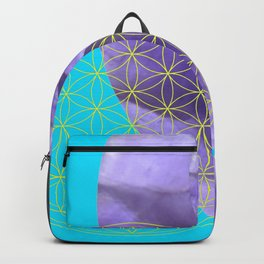 Mystical Flower of Life Amethyst #society6 Backpack