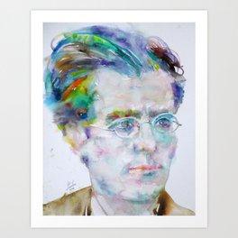 GUSTAV MAHLER - watercolor portrait Art Print