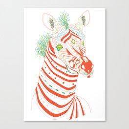 Robot Zebra Canvas Print