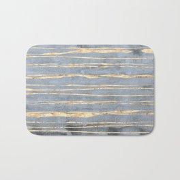 Watercolor Gradient Gold Foil III Bath Mat