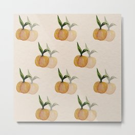 Peach watercolor pattern Metal Print