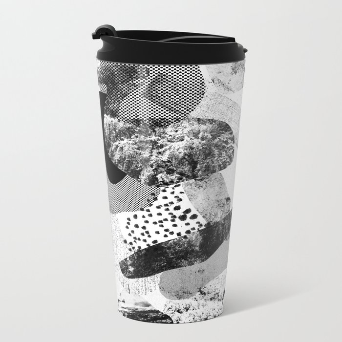 rock balancing Metal Travel Mug