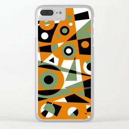 Abstract #977 Clear iPhone Case