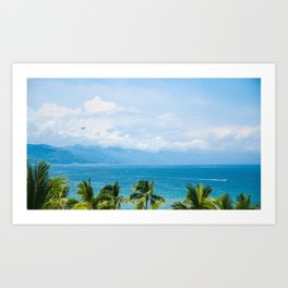 Parasailing in Mexico Art Print