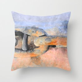 THE SHIP CHAIN Throw Pillow