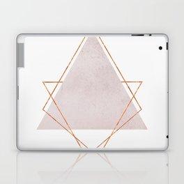 BLUSH COPPER ROSE GOLD GEOMETRIC SYNDROME Laptop & iPad Skin