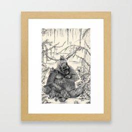 Koko Love Graphite Drawing Framed Art Print
