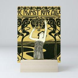 Art Nouveau Vintage Poster by Koloman Moser - Kunst fur Alle - Art for Everyone Mini Art Print