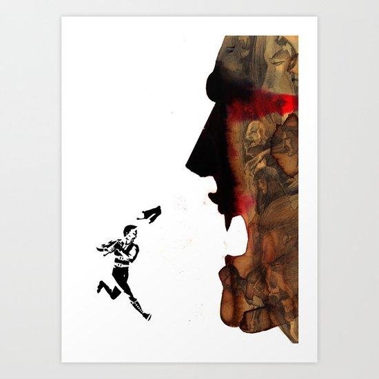 Blade vs the world Art Print