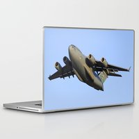 aviation Laptop & iPad Skins featuring C-17 Globemaster Aviation USAF Take Off by Aviator