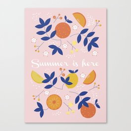 Summer is here- soft pattern Canvas Print