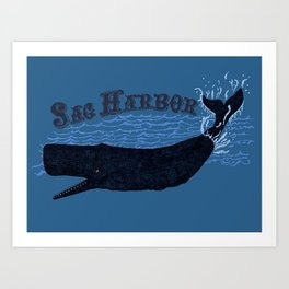 Sag Harbor Whale Art Print