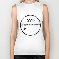 2001 a space odyssey Biker Tanks featuring 2001: A Space Odyssey by artsch.