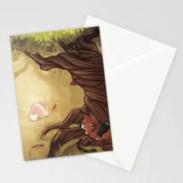 Catching the rabbit Stationery Cards