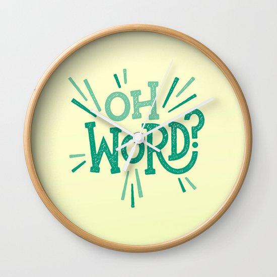 Oh Word? Wall Clock